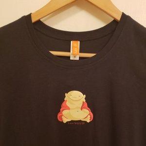 Lucy Happy Buddha black tshirt NWT sz med
